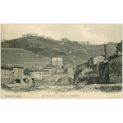 carte postale ancienne 07 Le Cheylard. Pont sur la Sablière. Carte pionnière vers 1900 vierge.