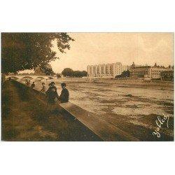 carte postale ancienne 40 DAX. Pont et Splendid Hôtel