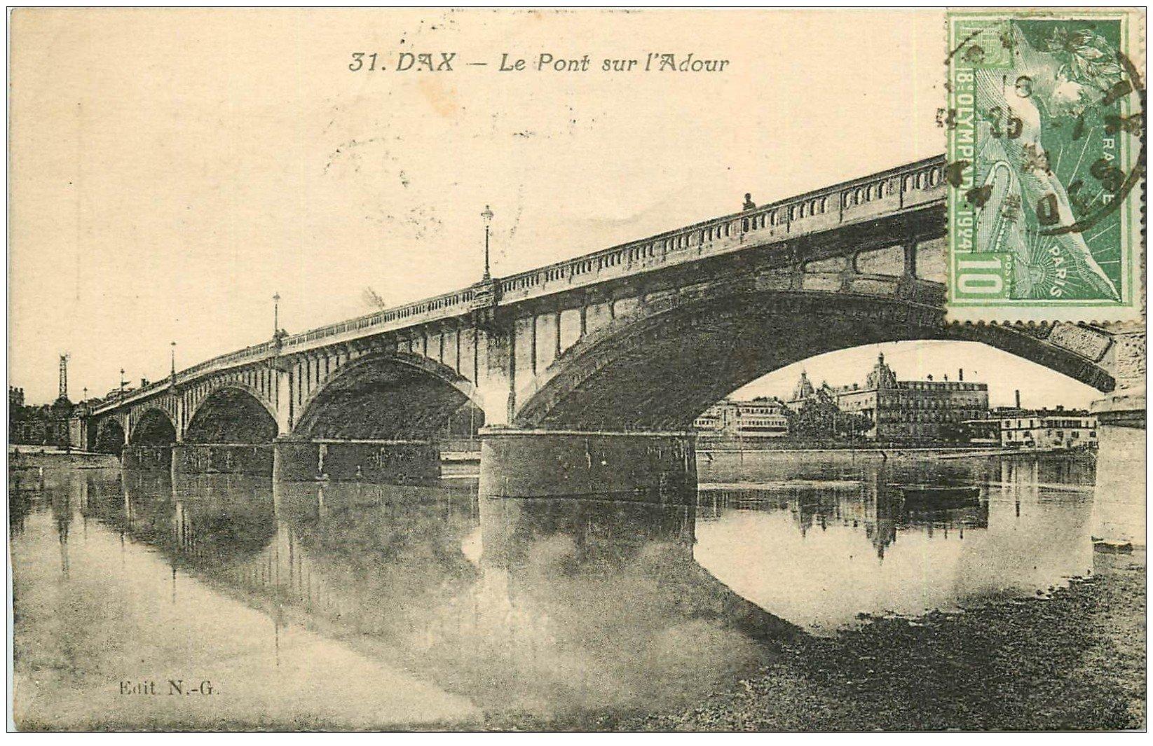 40 DAX. Pont sur l'Adour