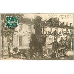 carte postale ancienne 40 DAX. Un Geyser Naturel dans le Parc 1909