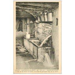 carte postale ancienne 07 LE GERBIER DES JONCS. Bac de la Ferme de Loire