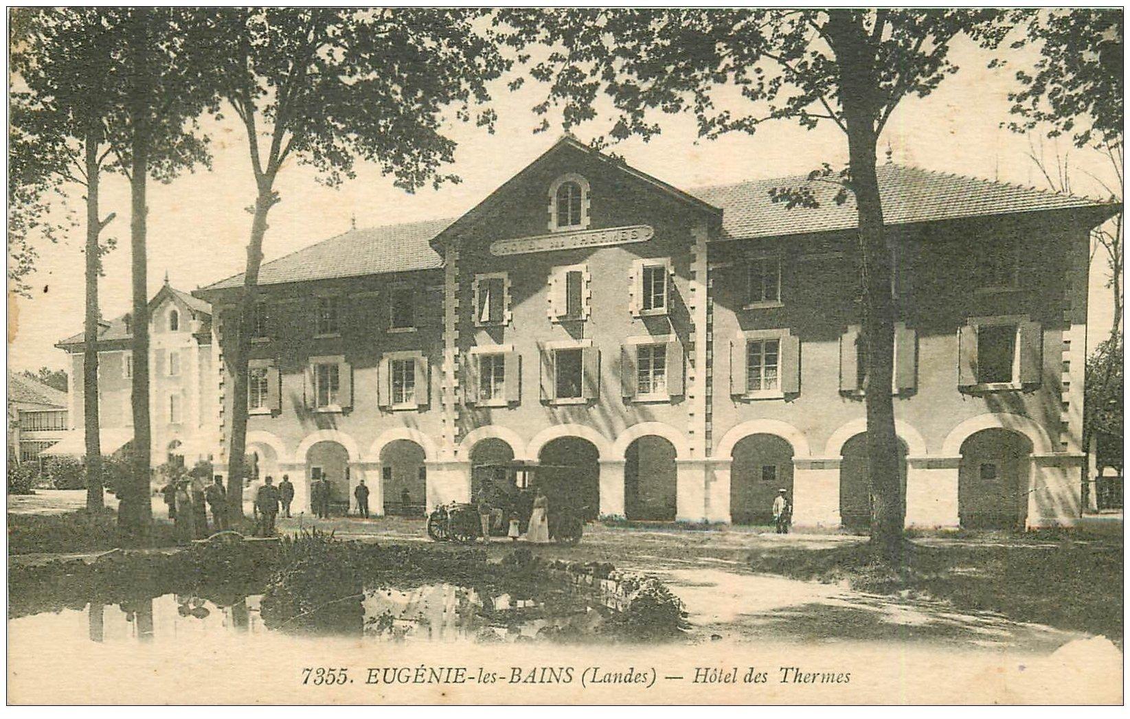 carte postale ancienne 40 EUGENIE-LES-BAINS. Hôtel des Ternes 1927