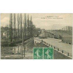 carte postale ancienne 40 HAGETMAU. Pont et Avenue Ducourneau 1919
