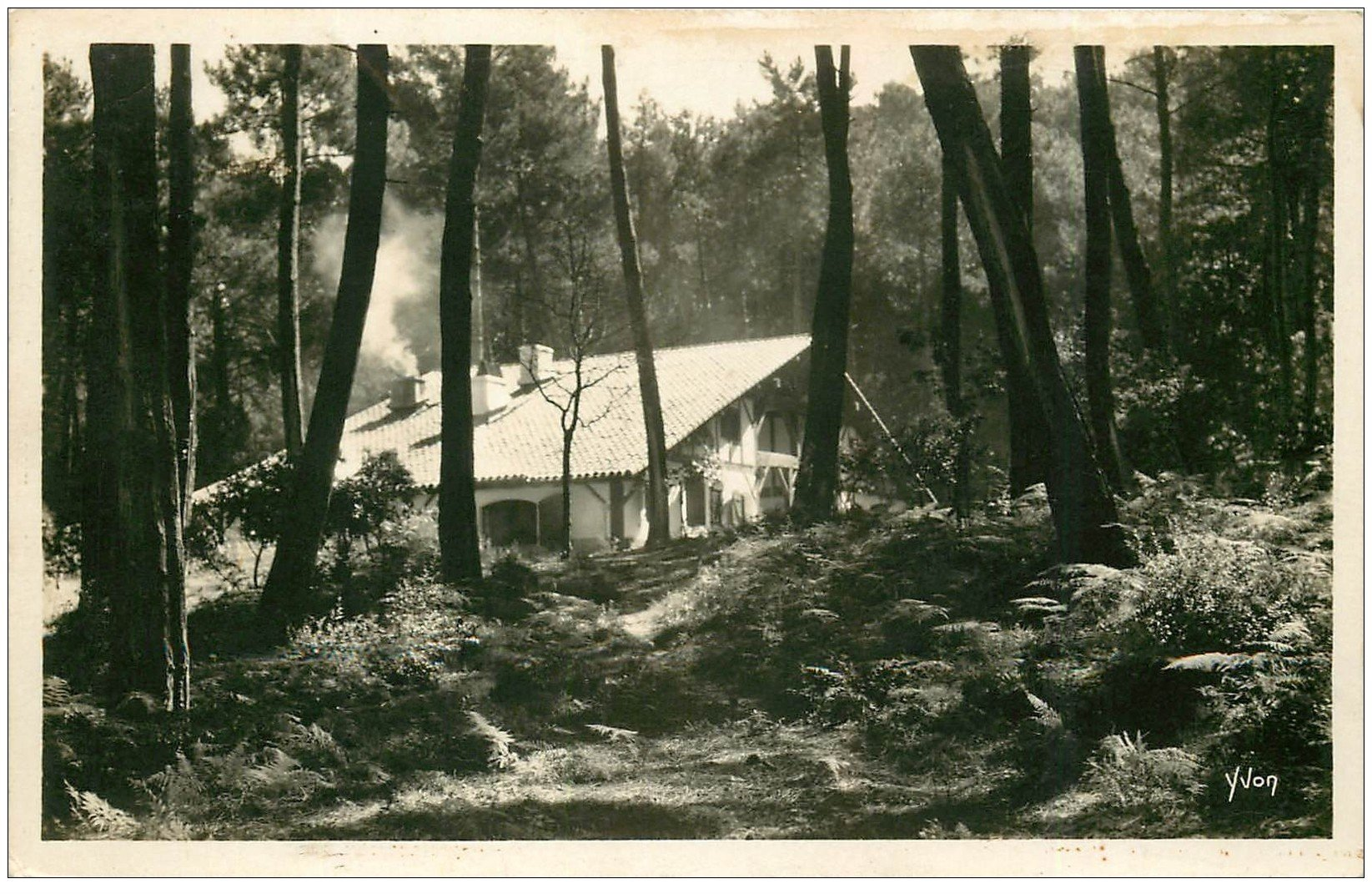 carte postale ancienne 40 HOSSEGOR. Villa bord du Lac. Carte photo 1934