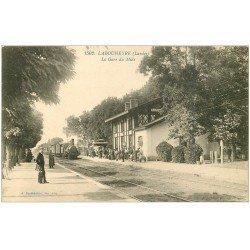 carte postale ancienne 40 LABOUHEYRE. La Gare du Midi avec Train et Locomotive à vapeur