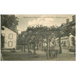carte postale ancienne 40 PRECHACQ-LES-BAINS. Etablissement Thermal 1926