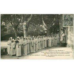 carte postale ancienne 40 PRECHACQ-LES-BAINS. Les Baigneurs 1931 Etablissement Thermal