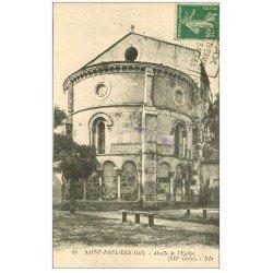 carte postale ancienne 40 SAINT-PAUL-LES-DAX. Eglise 1924