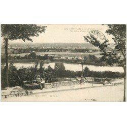 carte postale ancienne 40 SAINT-SEVER-SUR-ADOUR. Vue sur la Plaine 1920