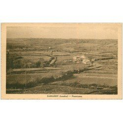 carte postale ancienne 40 SAMADET. Panorama 1940