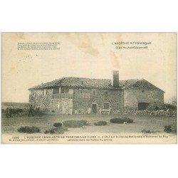 carte postale ancienne 07 PEREYBEILLE. L'Auberge sanglante Route Nationale d'Aubenas au puy 1906