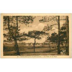 carte postale ancienne 40 VIEUX-BOUCAU-LES-BAINS. Villas de la Plage la Plage 1937