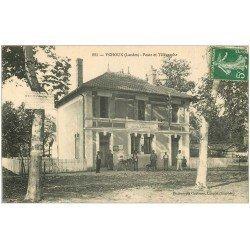 carte postale ancienne 40 YCHOUX. Poste et Télégraphe 1907