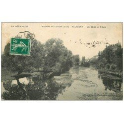 carte postale ancienne 27 ACQUIGNY. Bords de l'Eure 1911