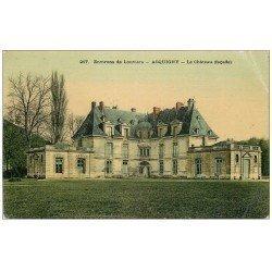 carte postale ancienne 27 ACQUIGNY. Le Château 1916 en couleur