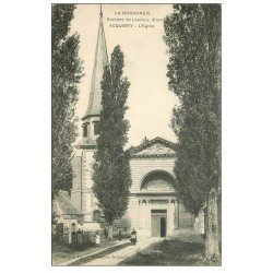 carte postale ancienne 27 ACQUIGNY. L'Eglise animation