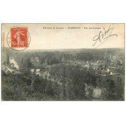 carte postale ancienne 27 ACQUIGNY. Vue 1907