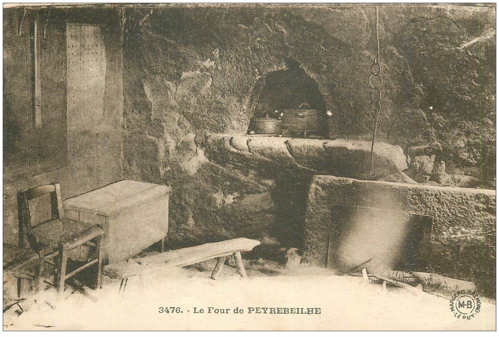 carte postale ancienne 07 PEYREBEILHE. Le Four de l'Auberge. Crimes et meutres... M.B