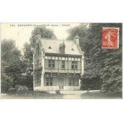 carte postale ancienne 27 AMFREVILLE-LA-CAMPAGNE. Le Chalet 1908