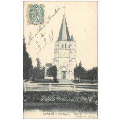 carte postale ancienne 27 AMFREVILLE-LA-CAMPAGNE. L'Eglise 1905
