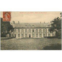 carte postale ancienne 27 AMFREVILLE-SOUS-LES-MONTS. Château des des Deux Amants 1913