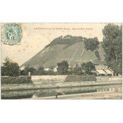 carte postale ancienne 27 AMFREVILLE-SOUS-LES-MONTS. Côte des des Deux Amants 1906