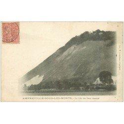carte postale ancienne 27 AMFREVILLE-SOUS-LES-MONTS. La Côte des Deux Amants 1906