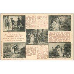carte postale ancienne 27 AMFREVILLE-SOUS-LES-MONTS. Légende des Deux Amants. Edmond et Caliste
