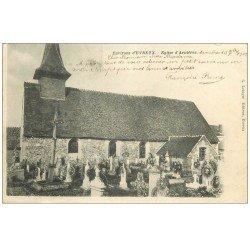 carte postale ancienne 27 ARNIERES ou ASNIERES. L'Eglise et Cimetière 1902