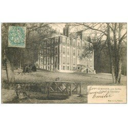 carte postale ancienne 27 AUBEVOYE. Château de Tournebut 1903
