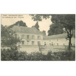 carte postale ancienne 27 AUTHEUIL. Le Château du Val 1913. Pli coin
