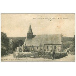 carte postale ancienne 27 AUTHOU. L'Eglise