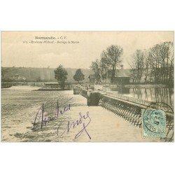 carte postale ancienne 27 BARRAGE DE MARTOT. Près Elbeuf 1905