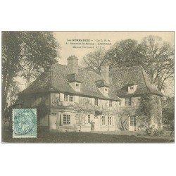 carte postale ancienne 27 BARVILLE. Manoir Normand 1905 animation