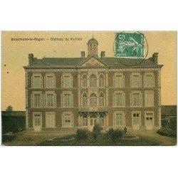 carte postale ancienne 27 BEAUMONT-LE-ROGER. Château de Vieille. Superbe carte toilée 1909 pour le Neubourg