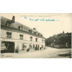 carte postale ancienne 27 BEAUMONT-LE-ROGER. Hôtel du Lion d'Or