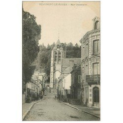 carte postale ancienne 27 BEAUMONT-LE-ROGER. Rue Chateraine