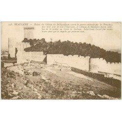 carte postale ancienne 27 BEAUCAIRE. Ruines Château du Belliquadrum 1917