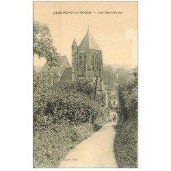 carte postale ancienne 27 BEAUMONT-LE-ROGER. Côté Saint-Nicolas