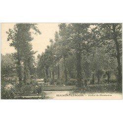 carte postale ancienne 27 BEAUMONT-LE-ROGER. Jardin de Chantereine