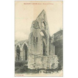 carte postale ancienne 27 BEAUMONT-LE-ROGER. Ruines Abbaye