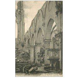 carte postale ancienne 02 BERRY-AU-BAC. L'Eglise après bombardement 1917