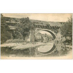 carte postale ancienne 07 PRIVAS. Pont Louis XIII 1922