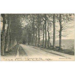 carte postale ancienne 27 BERNAY. 1905 Promenade du Mont Milon