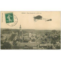 carte postale ancienne 27 BERNAY. Aéroplane Fêtes Aviation de 1912. Avion