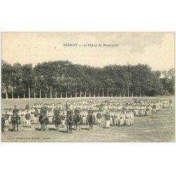 carte postale ancienne 27 BERNAY. Champ de Manoeuvres Militaires