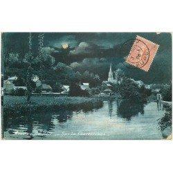 carte postale ancienne 27 BERNAY. Charentonne de Nuit 1905