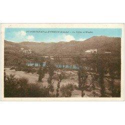 carte postale ancienne 07 SAINT-FORTUNAT-SUR-EYRIEUX. Le Cellier et Mondon 1949