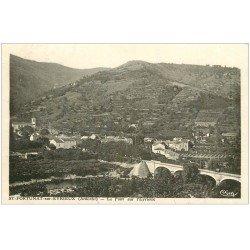 carte postale ancienne 07 SAINT-FORTUNAT-SUR-EYRIEUX. Le Pont