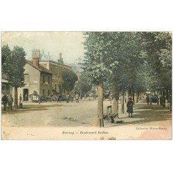 carte postale ancienne 27 BERNAY. Gare Boulevard Dubus 1905 en l'état...